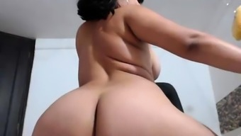 Busty Brunette Shows Boobs off Cam Porn
