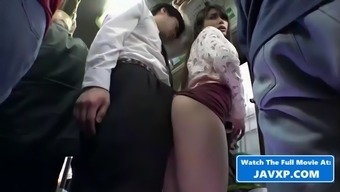 Shy asian teen fucked in public on the bus