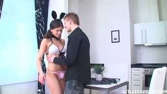 Gorgeous teen Little Caprice is having sex fun with her kinky boyfriend