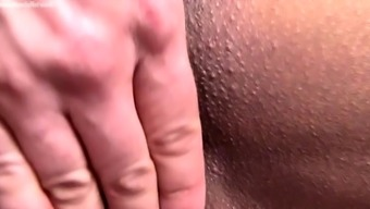 Naked Female Bodybuilder in Mask Big Clit