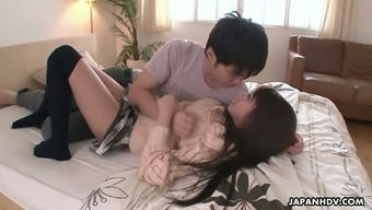 Asian hottie Hitomi Kitagawa gets her pussy creampied after a steamy pounding