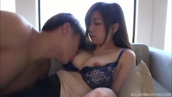 Stunning Minami An gets surprised with a big load of dick