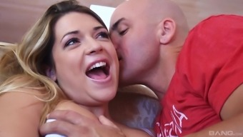 Horny guy gets to fuck Alura Jenson and her friend together