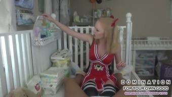 cheerleader babysits and fucks her bf