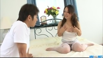Ruhime Maiori Japanese mom enjoys young cock