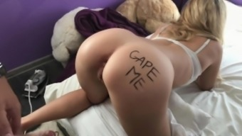 ANAL GAPE CHALLENGE ` First time DP and Fisting for SchoolGirl