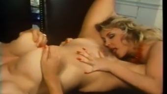 Busty classic lesbians are really great experts at licking wet pussies