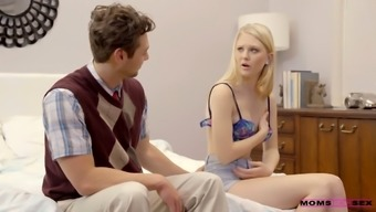 Young stepmom Lily Rader is fucking her handsome insatiable stepson