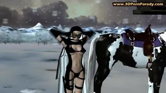 Nun gets banged by a weirdo in dungeon