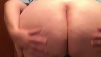 Old Mature Bbw showing her booty