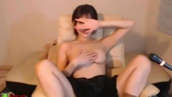 Beautiful korean camgirl big tits massage