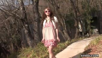 Amazing Japanese hottie in sunglasses Ayumi Inamori gives a fantastic blowjob