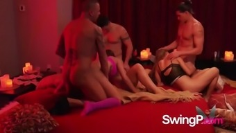 Husband has the best birthday as they celebrate with a swingers party