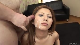 Hardcore Japanese gang bang and facial cum shots for Shiho Kanou