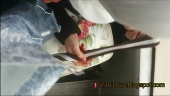 Arabic bus 3 , hot hijab teen touch my dick all the road