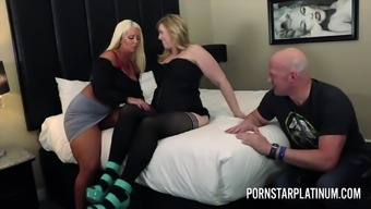 Alura Jenson and Lila Lovely fuck a fan