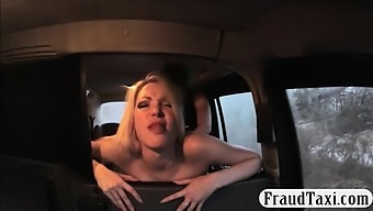 Huge boobs blonde babe nailed by fake driver in the cab