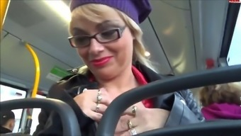 Two hot German Babes doing good in a public bus! Holy crap!