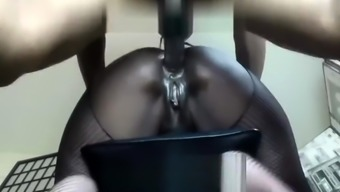 Chubby big tit ebony slut nailed by black stud doggystyle