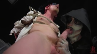 Horny gay Cody Winter makes his gay friend cum with a handjob