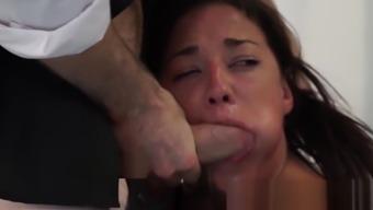 Teenage slut Amara Romani fucked roughly by casting agent