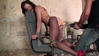 Adele Sunshine enjoys sex kinky games on the chair with a friend