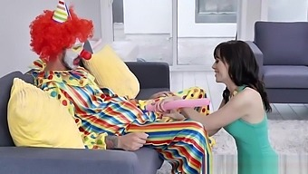 Birthday MILF Alana Cruise fucked by a clown