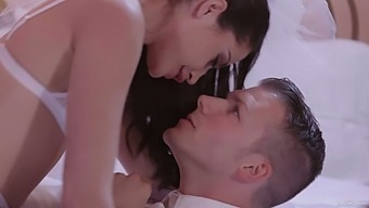 Sexy bride Avi Love is craving for anal sex on the wedding night