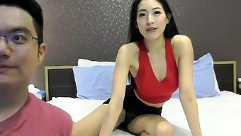Playful softcore asian massage in bikini xx