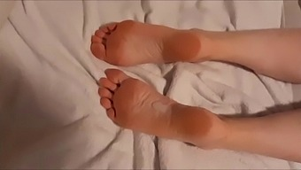 White socks, cum on ass and soles