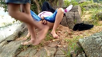 Outdoor Risky Public Sex With Step Sister Near Pond