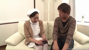 Clothed sex is what horny Japanese prefers with her handsome lover