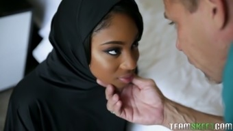 Ebony exchange student Lala Ivey igets her pussy licked and fucked