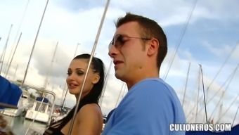 Busty cutie Aletta Ocean gets fucked and facialed on a yacht