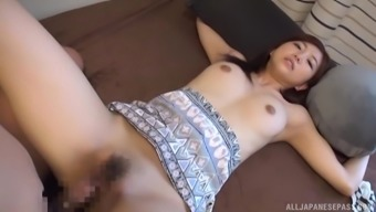 Reverse cowgirl cock ride from Japanese bombshell Kiyomoto Rena