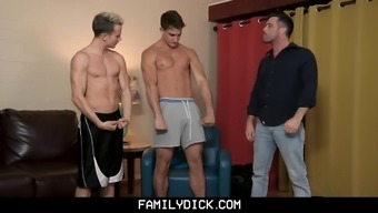 He Gets His Asshole Reamed By Muscular Older Bro