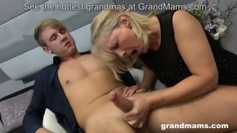 Horny 50 years old cougar rimming young boy&#039s anus