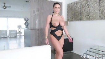 VOGOV Teasing Brunette Angela White Loves Anal