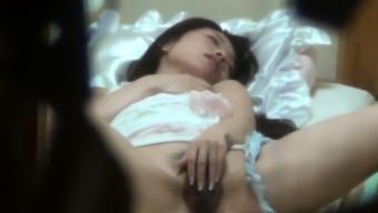 Small asian teen rubbing