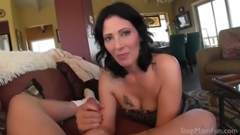 Your mom zoey holloway catches you jerking off and gives you a hand!
