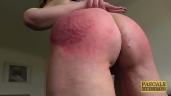 Mature short haired blonde slut Skylar Squirt spanked and fucked rough