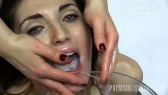 Nona swallows 99 huge mouthful cumshots