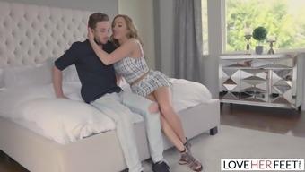 LoveHerFeet - Stepson Cums All Over His Hot Stepmom's Feet