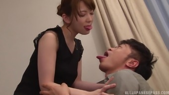 Amateur Japanese wife Hatano Yui takes cum in mouth after a hard fuck