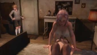 Shemale mom fuck daughter 3d futa porn video