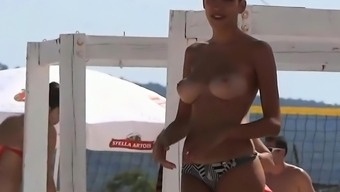 Gorgeous Tits at the Beach