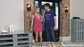 Nice Russian chick Sonya Sweet is fucked in front of tied up cuckold dude