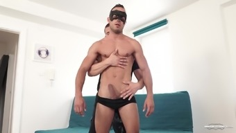 Well hung masked gay dude pounds his white tattooed boyfriend