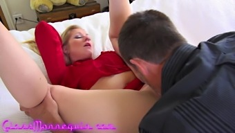 Stunning Blonde MILF Loves Analingus Before A Good Fuck