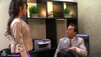 Busty Cougars Getting Hardcore Fucked At The Office